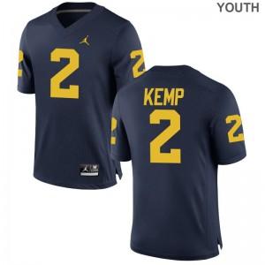 Wolverines Carlo Kemp Jersey Youth(Kids) Game Jersey - Jordan Navy