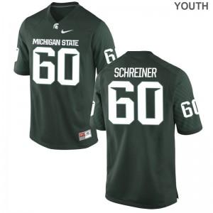 Casey Schreiner Youth(Kids) Jersey Green Michigan State University Limited