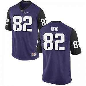 For Men Charlie Reid Jerseys Football Purple Black Game Horned Frogs Jerseys