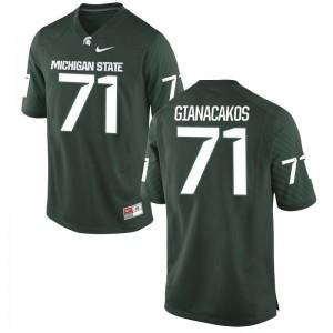 Michigan State Spartans Green Game Mens Chase Gianacakos Jerseys