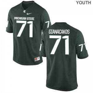 Spartans Chase Gianacakos Jerseys Game Youth(Kids) Green