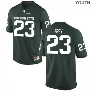 Chris Frey Jersey Youth(Kids) Spartans Game Green
