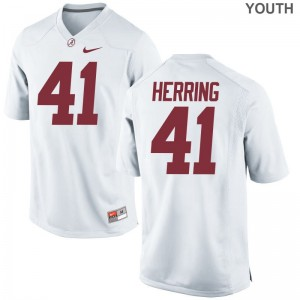 Youth Chris Herring Jerseys Alabama Crimson Tide Limited White