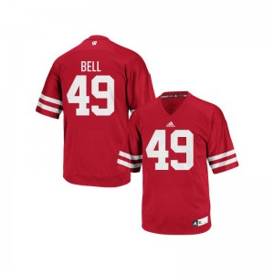 University of Wisconsin Christian Bell Jerseys Mens Authentic Red