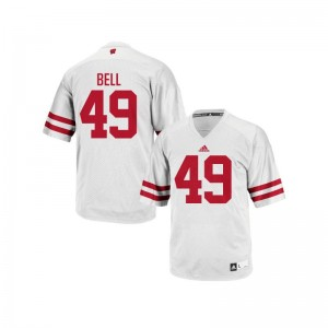 Christian Bell Men Jersey Authentic White Wisconsin Badgers