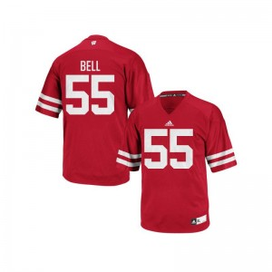 University of Wisconsin Christian Bell Replica Mens Jersey - Red