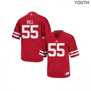Christian Bell Jerseys University of Wisconsin Red Replica Youth(Kids) Jerseys
