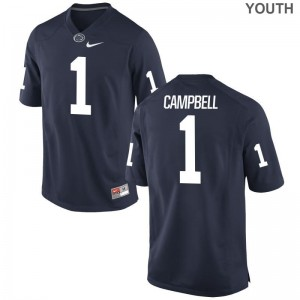Limited Penn State Christian Campbell For Kids Navy Jersey