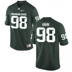 Limited Michigan State Cole Hahn Men Green Jersey
