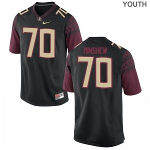 Game FSU Seminoles Cole Minshew Youth Black Jersey