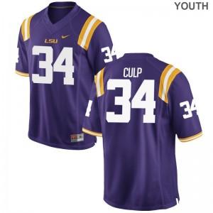 Purple Connor Culp Jerseys LSU Tigers Youth(Kids) Limited