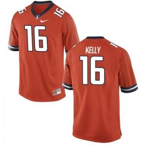 Connor Kelly Fighting Illini Jersey Men Limited - Orange