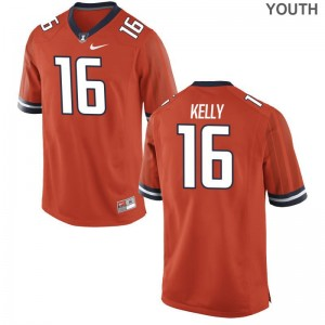UIUC Connor Kelly Jerseys Game Orange Youth