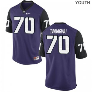 TCU Cordel Iwuagwu Limited Youth(Kids) Jersey - Purple Black