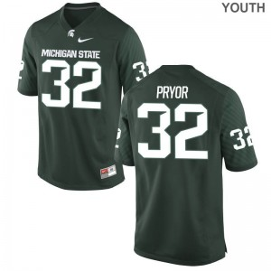 MSU Corey Pryor Limited Youth Jersey - Green