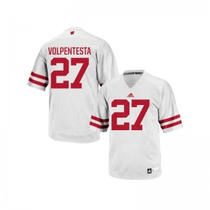 Cristian Volpentesta Jersey For Men Wisconsin Badgers White Replica