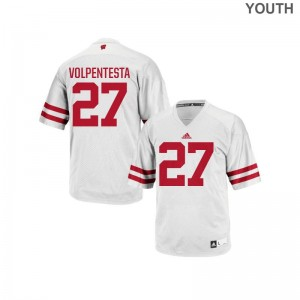 University of Wisconsin Cristian Volpentesta For Kids Replica White Stitch Jerseys