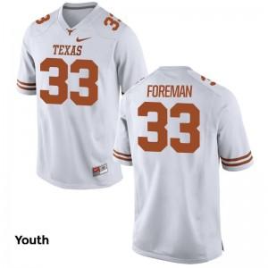 UT D'Onta Foreman Jersey Game Youth(Kids) White
