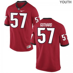 Kids Limited UGA Bulldogs Jerseys Daniel Gothard Red Jerseys