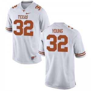 University of Texas Daniel Young Mens Game White Official Jerseys