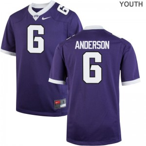 Darius Anderson Texas Christian University Jerseys Limited Youth(Kids) Purple