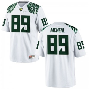 Mens Darrian McNeal Jerseys White Limited Oregon Ducks Jerseys