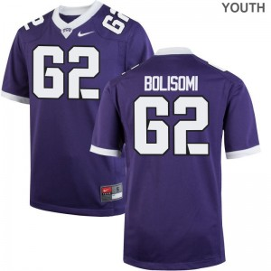 Limited David Bolisomi Jerseys TCU Horned Frogs Youth(Kids) Purple