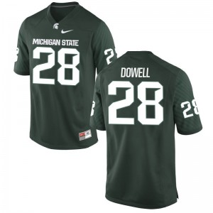 Mens Game Spartans Jersey David Dowell Green Jersey