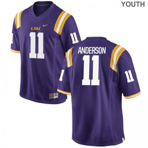 LSU Dee Anderson Jersey Purple For Kids Game