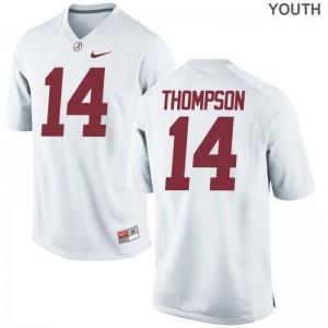 Alabama Game Deionte Thompson For Kids White Jerseys