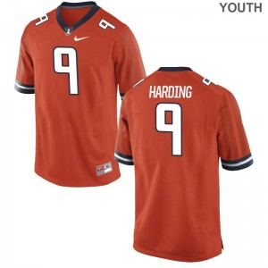 University of Illinois Game Dele Harding Youth(Kids) Orange Jerseys