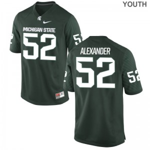 Dillon Alexander Jersey Michigan State Game Youth(Kids) - Green