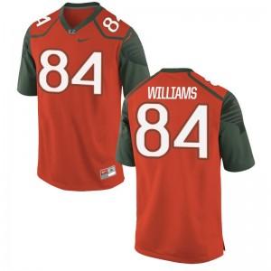 Men Dionte Williams Jerseys College Orange Limited Miami Hurricanes Jerseys