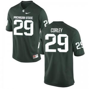 Donnie Corley For Men Jerseys Game MSU - Green