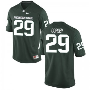 Michigan State University Donnie Corley Limited Jerseys Green Mens