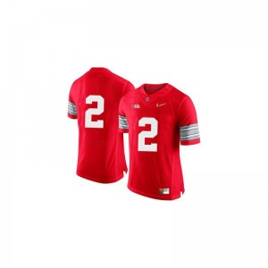 Ohio State Dontre Wilson Jersey Mens Limited Red Diamond Quest Patch Jersey