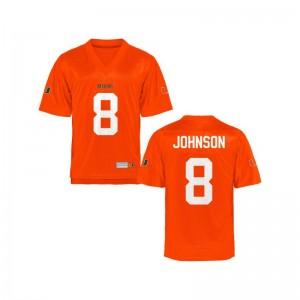 University of Miami Duke Johnson Jerseys Orange Game For Men