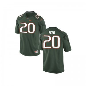 Ed Reed For Men University of Miami Jerseys Green Limited Jerseys