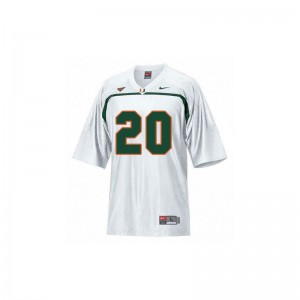 University of Miami Limited White For Men Ed Reed Jerseys