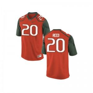 Ed Reed Miami Jerseys Limited Youth(Kids) Orange_Green
