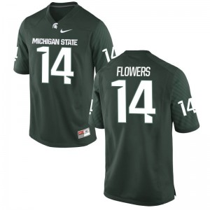 Emmanuel Flowers Mens Jersey Green Michigan State Game