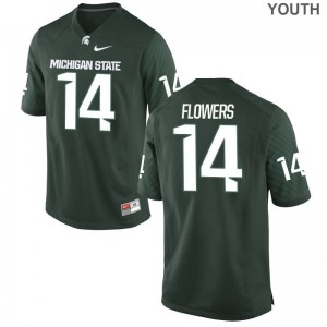 Michigan State Youth(Kids) Limited Emmanuel Flowers Jerseys - Green