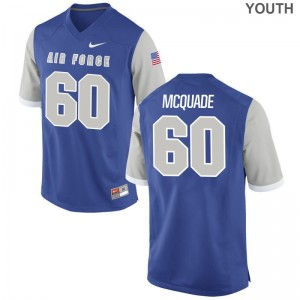 Game For Kids Air Force Academy Jerseys of Ernest McQuade - Royal