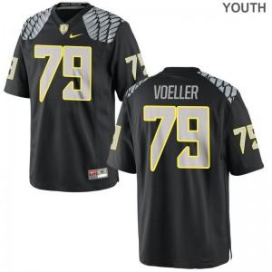 University of Oregon Evan Voeller Youth Limited Official Jerseys Black