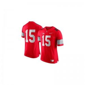 Ezekiel Elliott Game Jersey For Men OSU Buckeyes Red Diamond Quest Patch Jersey