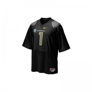 Game Oregon Ducks Fan For Kids Jerseys - Black With PAC-12 Patch