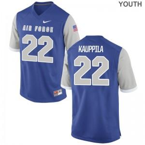 Youth(Kids) Garrett Kauppila Jerseys Air Force Academy Limited Royal