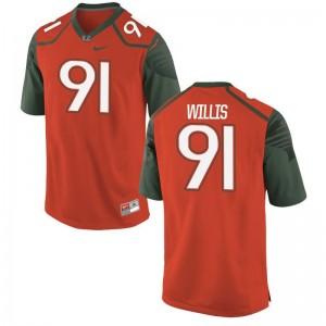 Youth(Kids) Game Miami Jerseys of Gerald Willis - Orange