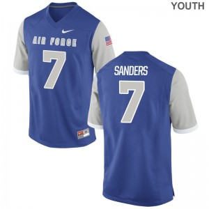 Air Force Falcons Royal Youth(Kids) Game Geraud Sanders Jersey