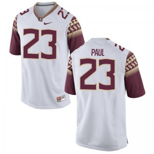 Seminoles Herbans Paul Youth Game Official Jerseys White
